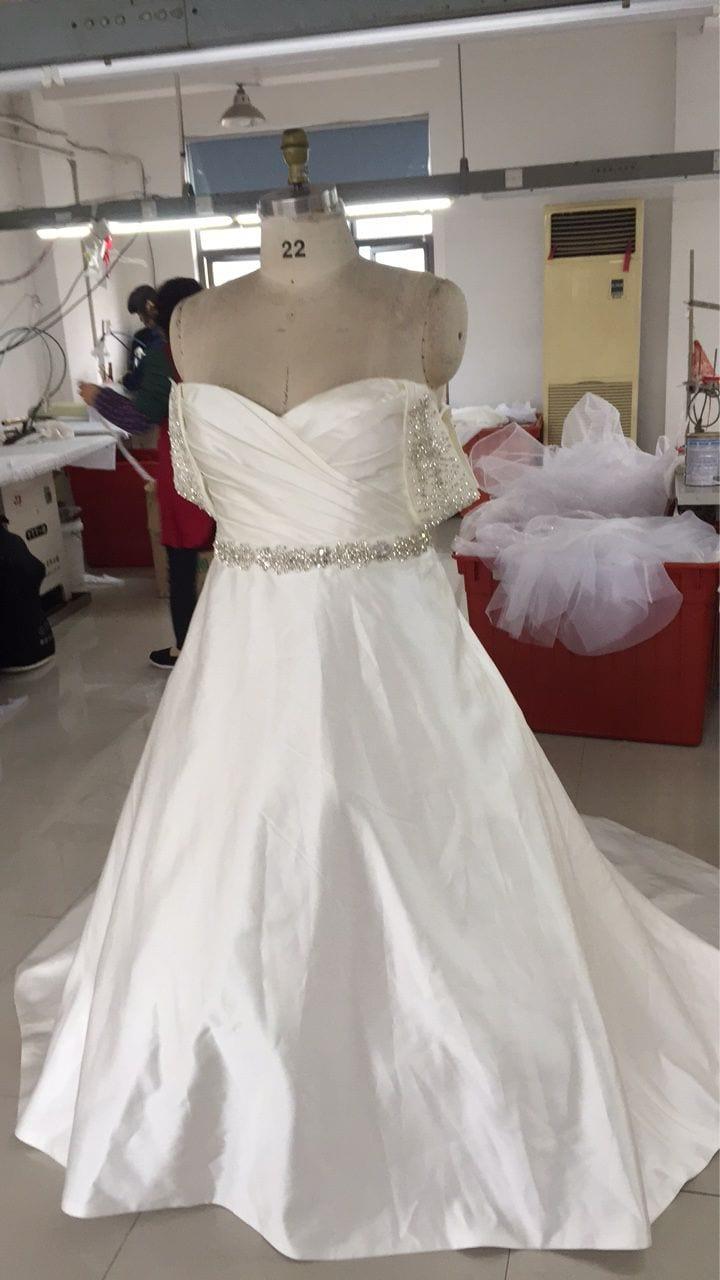 Custom plus size ball gown wedding dress from Designer Darius