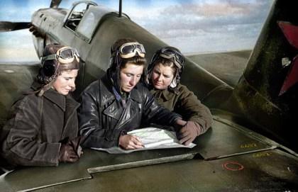 SOVIET WOMEN FIGHTER PILOTS, AVIATION HISTORY, WW2
