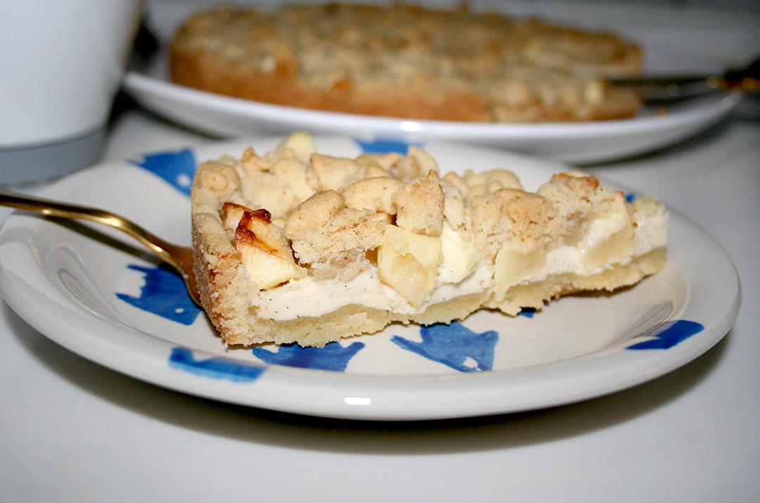 Foto von: Ein Stück vom Apfel - Käsekuchen mit Streusel. Darjas Welt