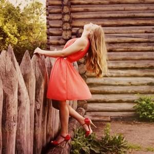 wearing gorgeous dress