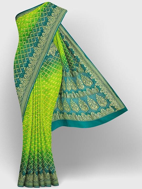 traditional bandhani saree