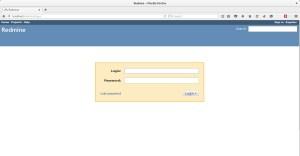 redmine-login-page
