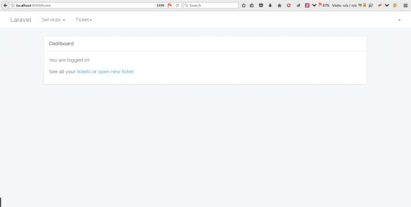 How to Add Dropdown Menu in Laravel Defaul Dashboard