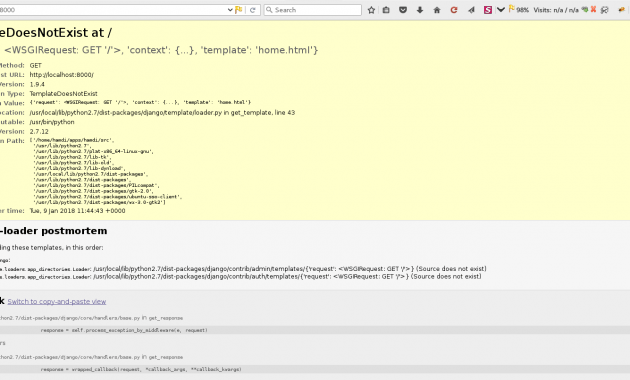 How to Solve Django Error Message : TemplateDoesNotExist at /
