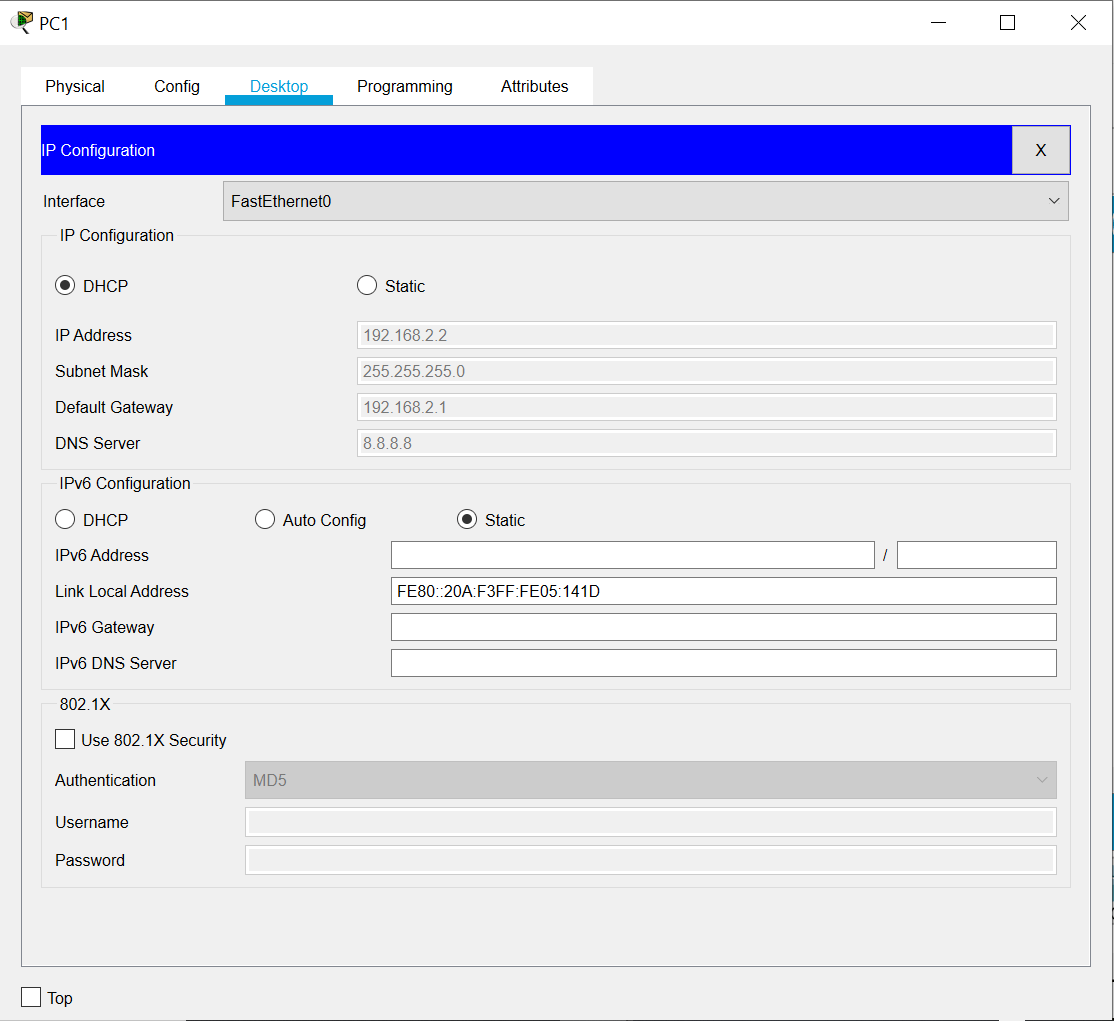 How to Simulate DHCP Implementation with two VLANs using two PC, two Switch and one Router