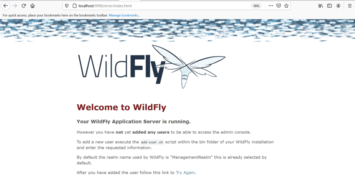 How to Login to Wildfly Management Admin Console after Installation