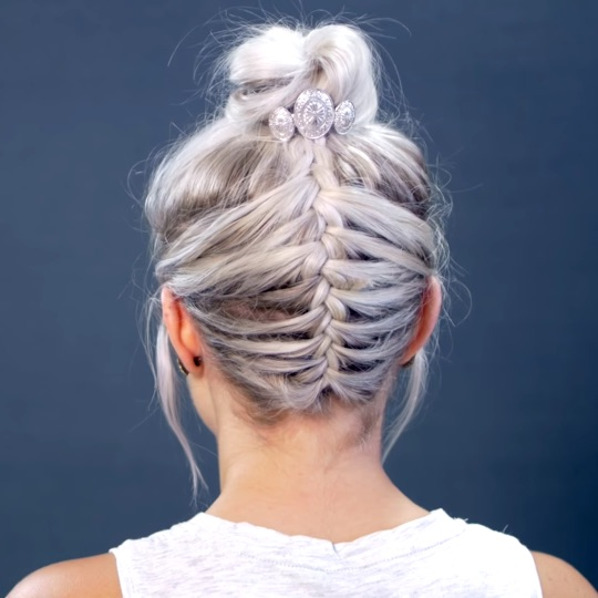 Messy Braided Top Knot 3