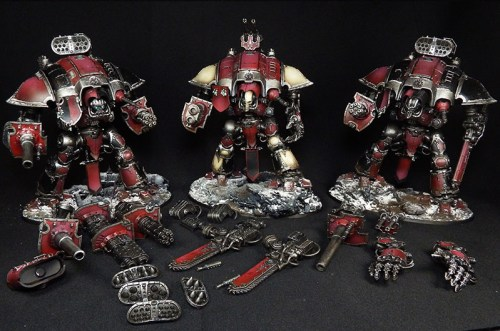 3 magnetized Imperial Knights