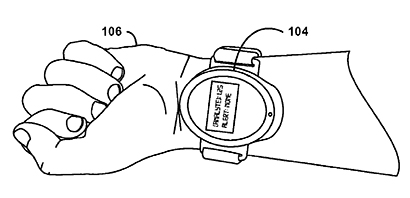 The device may even be developed into a wearable item, similar to a smartwatch that could replace traditional glucose testers used by diabetics. (Illustration copyright: Google/The U.S. Patent and Trademark Office.)