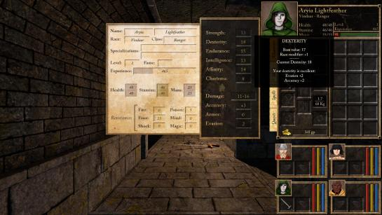 Character Panel and new redrawn HD user interface