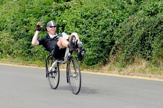 All recumbent riders are happy. Even halfway through 1,400km... Photo by Noel Toone.