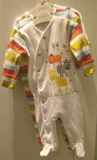 Finally - a decent rainbow babysuit offering from NEXT