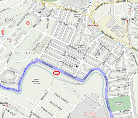 Map of the surrounding area