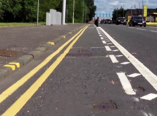 ironworks in cycle lane