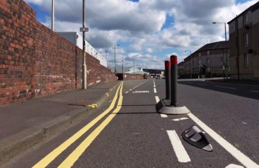 Advisory paint cycle lane
