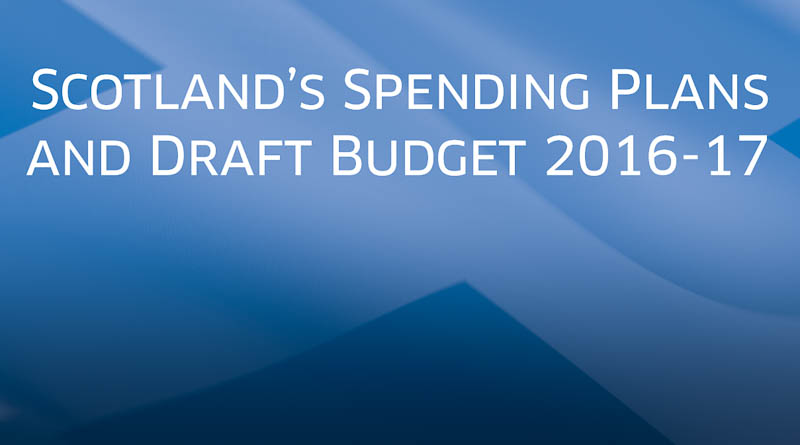 Scottish draft budget cover page