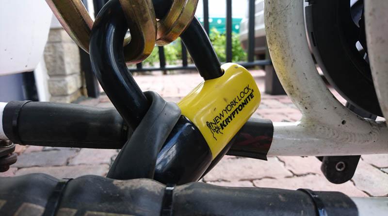 A big padlock