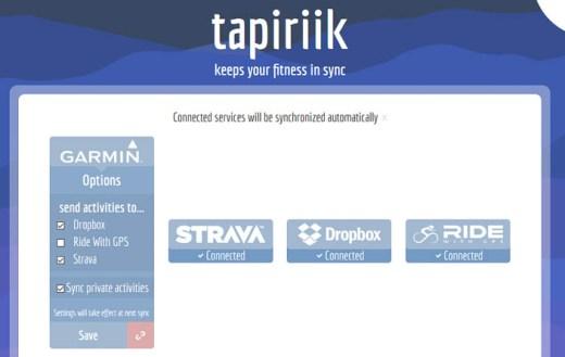 Tapiriik reconfigure options