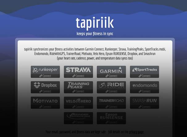Tapiriik sync-ing away
