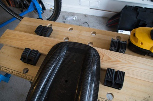 Carbon-fibre seat, before drilling