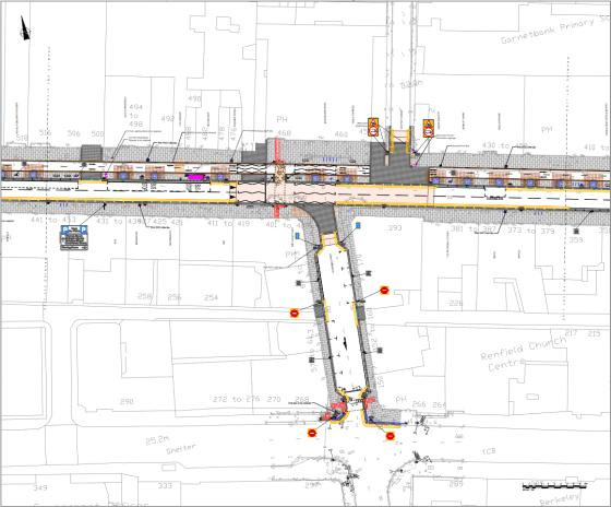 Sauchiehall Street regeneration drawing west
