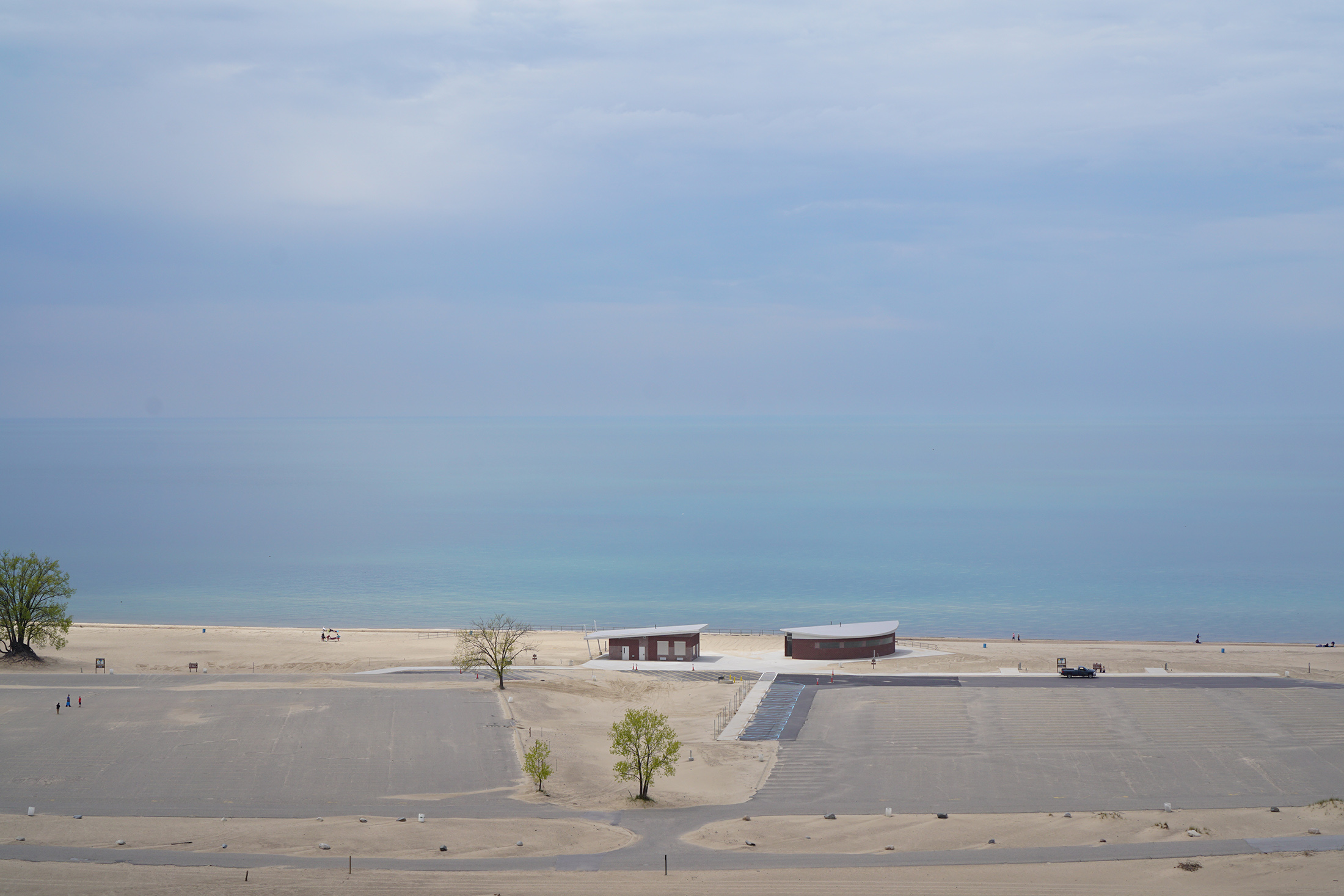 View of Lake Michigan from Warren Dunes, Michigan / Darker than Green