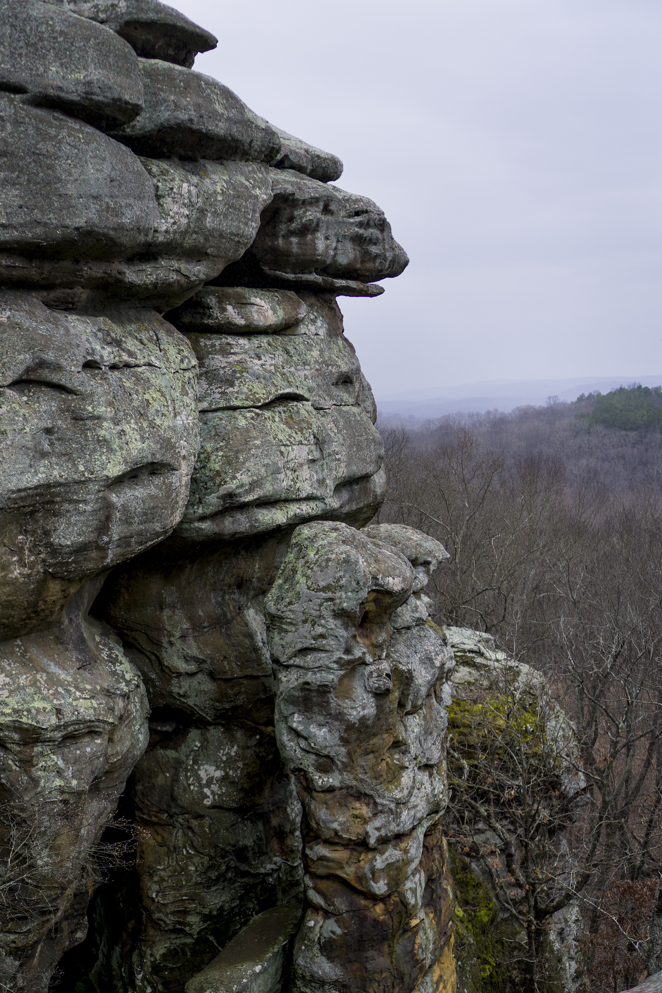 Devil's Smokestack in Garden of the Gods, Shawnee National Forest, IL / Darker than Green