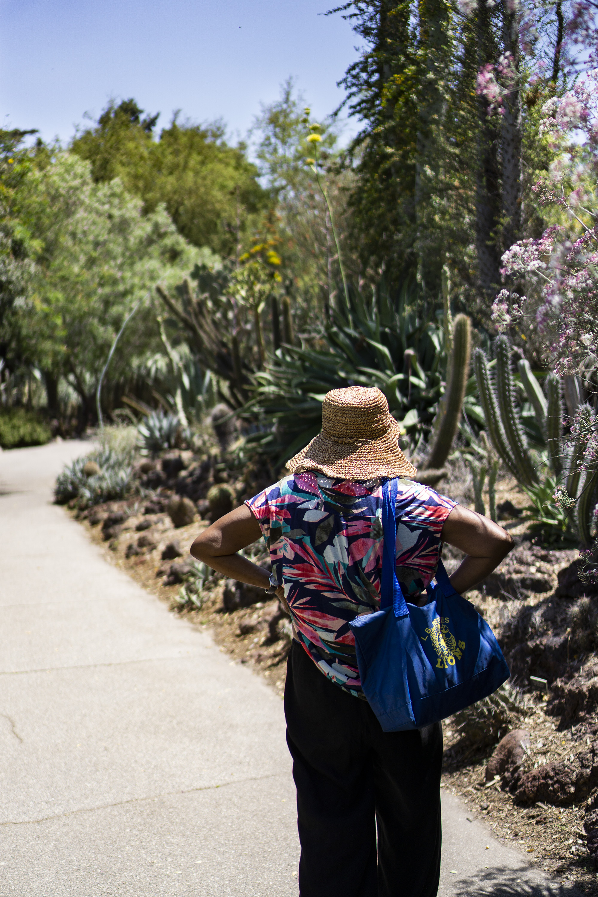 My mom gazing upon the Desert Garden, Huntington Library, San Marino CA / Darker than Green