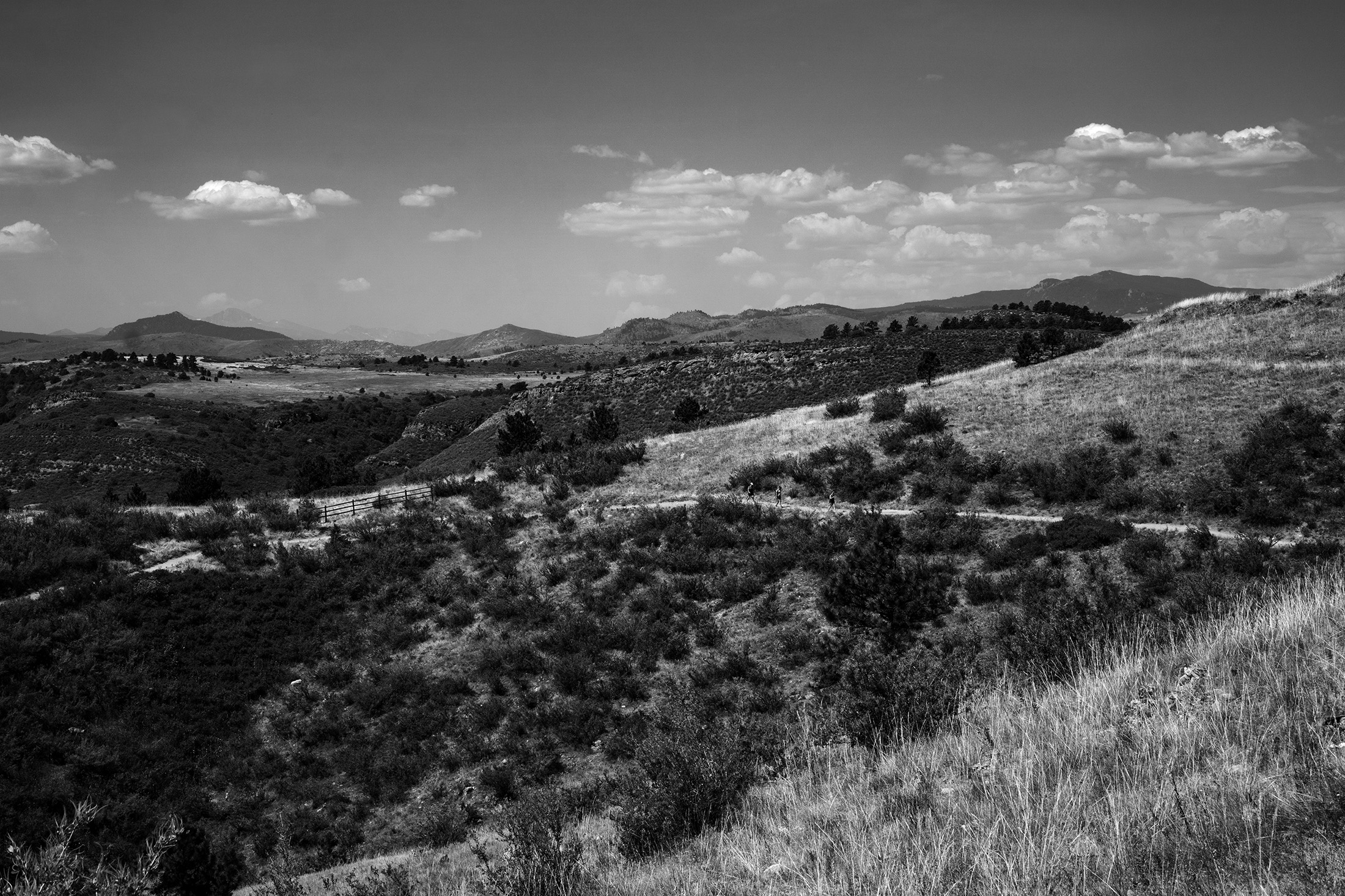 View toward Horsetooth Reservoir from Horsetooth Rock Trail, Colorado / Darker than Green