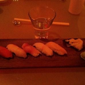 Ji saki Sushi - Tuna, amberjack, Bonita tuna, red snapper, clam