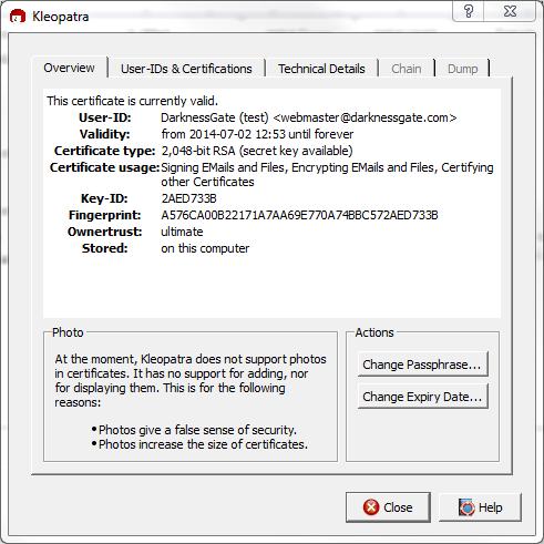 Figure 14: View Complete certificate Details