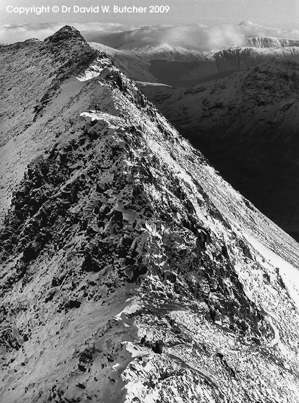 Striding Edge in Winter, Lake District