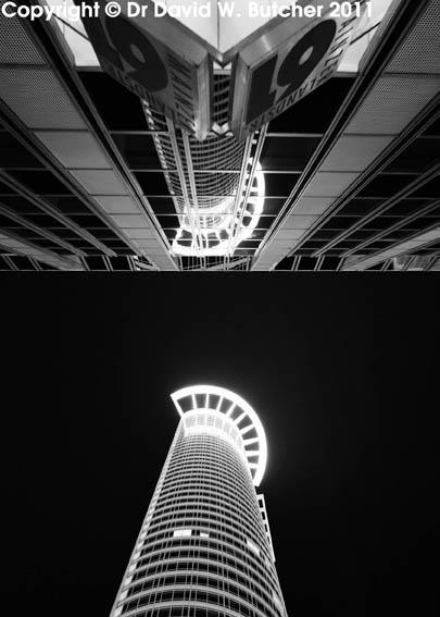DZ Bank Westend Tower at Night