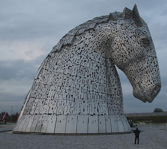Kelpies After Sunset