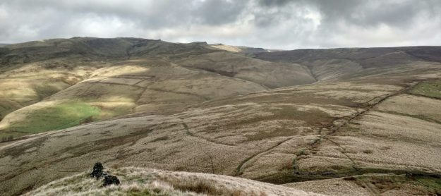 Kinderscout from South Head, dull lighting