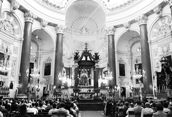 Our Lady of Mount Carmel Feast, Valletta. Ilford HP5+