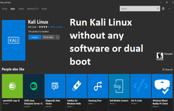 Run Kali Linux Without Dual Boot or Virtualization on Windows