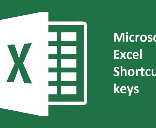 Latest all Microsoft Excel keyboard Shortcut keys