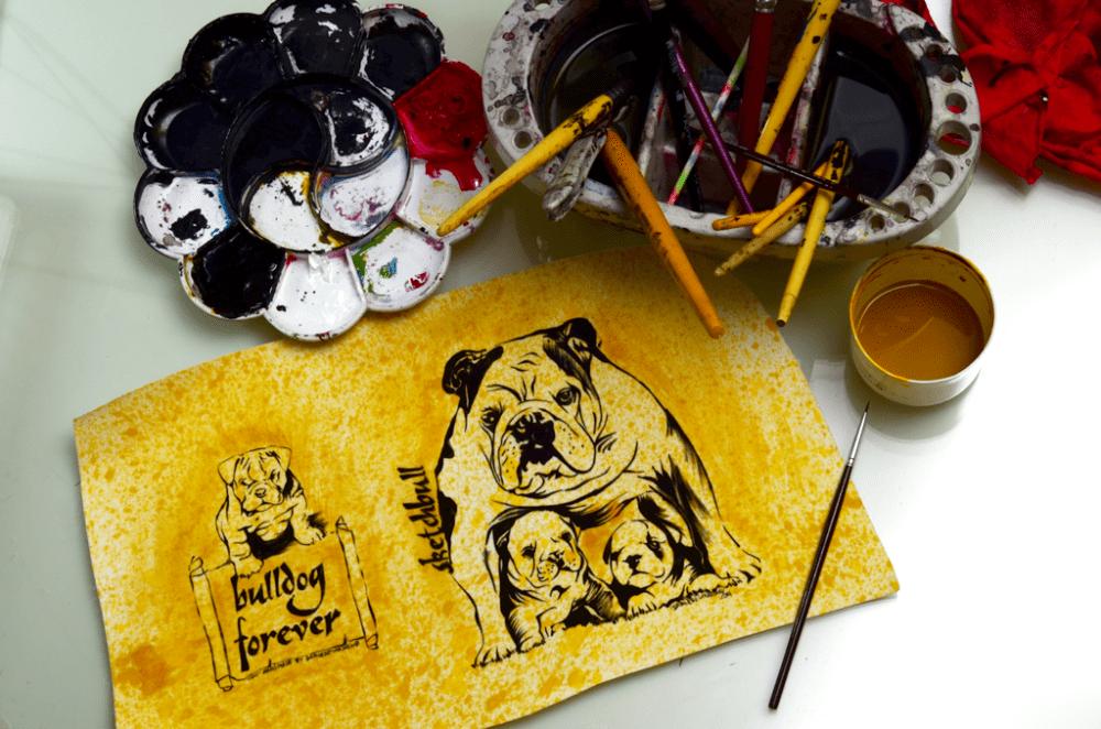 Sketchbull — Sketchbook & Buldogues - darlene-carvalho