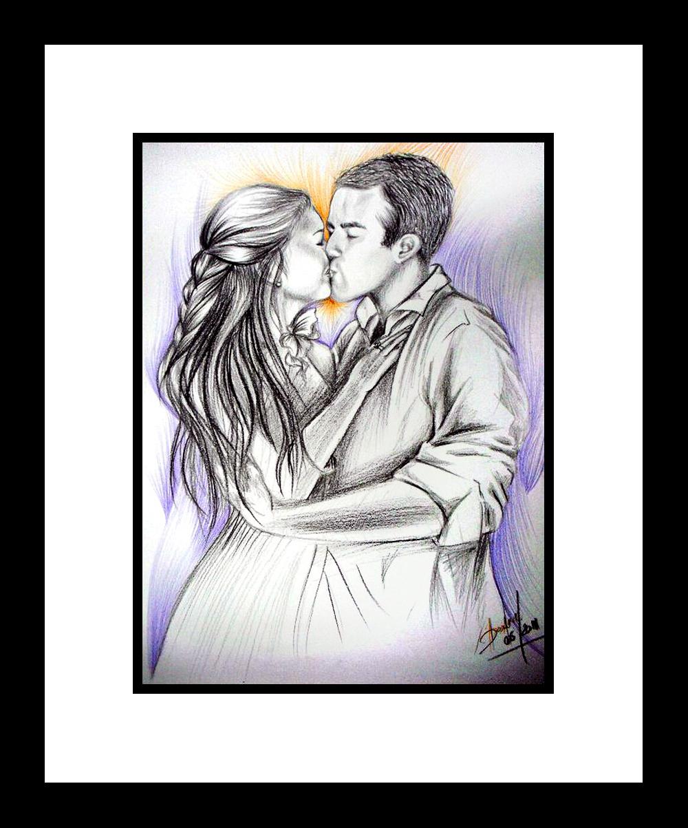 namorados desenhados - darlene carvalho