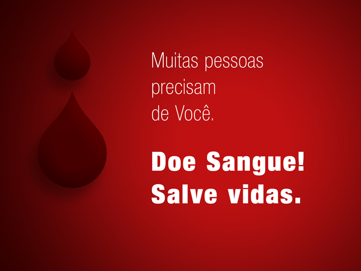doe sangue! salve vidas.