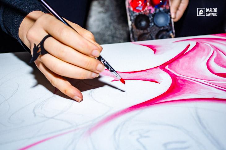 Live Painting / Arte ao vivo / Evento Festa Evolve / Artista Darlene Carvalho