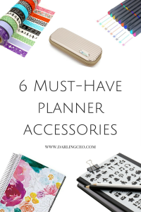 Must Have Planner accessories for the planner addict. Improve productivity and achieve your goals by using a planner. Erin Condren, bullet journal, habit tracker, planner accessories