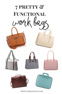 Best pretty and functional work bags for working women. Stay organized and stylish.