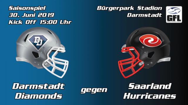 Darmstadt Diamonds Saarland Hurricanes 2019 Bürgerpark