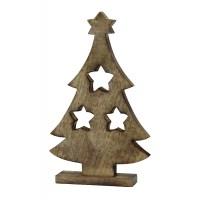 Jetzt kaufen! Holz Deko Figur Baum mit Sternen