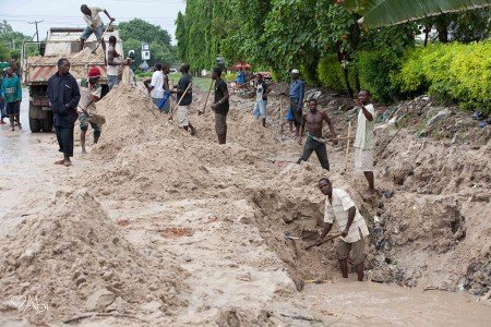 Digging out: When it rains, Dar's lack of a master plan shows, says leader of the opposition Freeman Mbowe. Photo contributed: Abigail Snyder