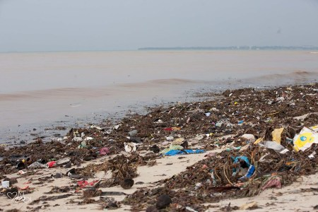 Debris at Mbezi Beach on Friday.  Photo contributed: Abigail Snyder.