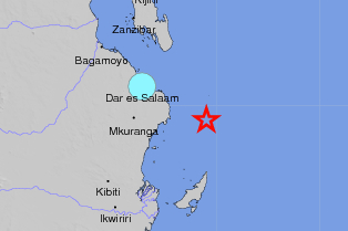 A 4.8 magnitude earthquake could be felt in parts of Dar.