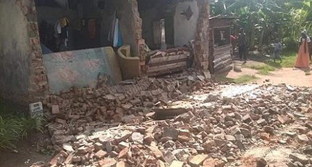 The magnitude 5.7 earthquake in Kagera region caused 'widespread damage' and killed at least 15 people and injured hundreds more. Photo: Tanzania Red Cross Society
